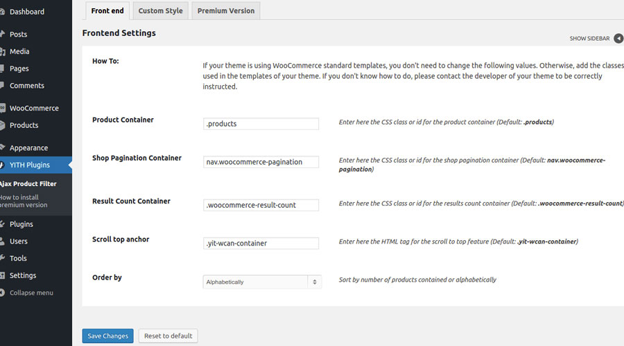 Ajax Product Filter: The widgets do not update after a filter is ...